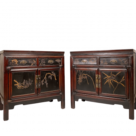 Chinese antique furniture bedside cabinet