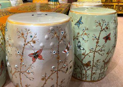 Colour ceramic drum stools