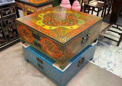 Tibetan-style handpainted coffee table
