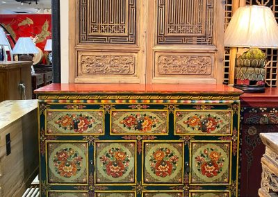 Tibetan-style hand-painted cabinet