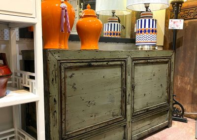 Chinese antique furniture light grey sideboard