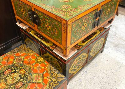 Hand-painted Tibetan-style furniture