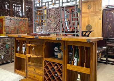Oriental bar cabinet