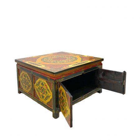 Tibetan coffee table open