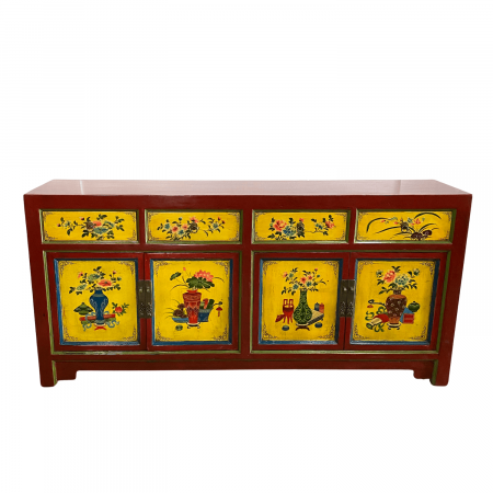 Chinese painted sideboard
