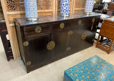 Chinese dark brown sideboard