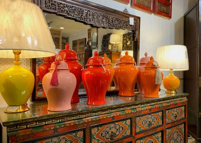Oriental ceramic jars