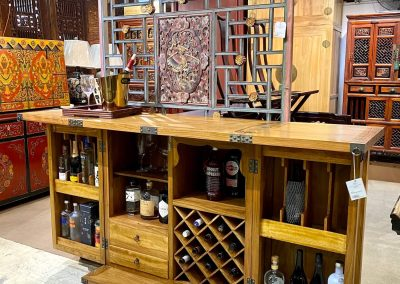 medium brown bar cabinet