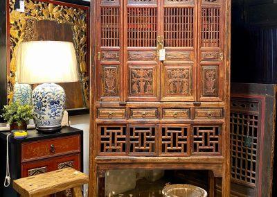 Antique chinese kitchen cabinet