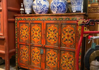 Hand-painted Tibetan-style cabinet