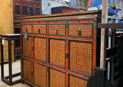 Hand-painted Tibetan-style furniture