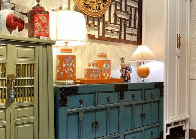 Chinese teal blue furniture