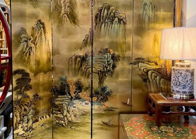 Chinese painted room divider